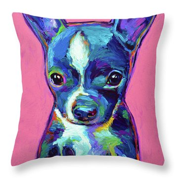 Throw Pillow featuring the painting Ripley by Robert Phelps