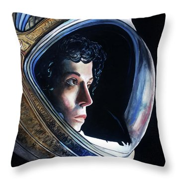 Ripley Throw Pillow by Tom Carlton