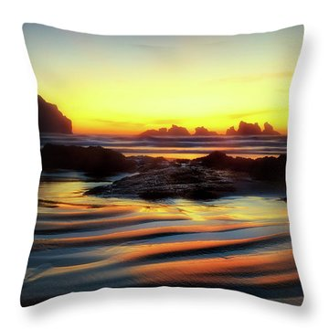 Throw Pillow featuring the photograph Ripple Effect Beach Image Art by Jo Ann Tomaselli