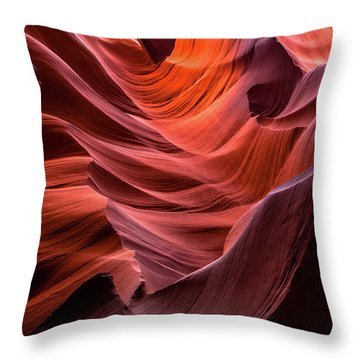 Ripple Of Color Throw Pillow