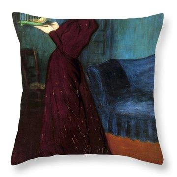 Ripple-ronai: Woman, 1892 Throw Pillow by Granger