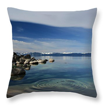 Throw Pillow featuring the photograph Ripples   by Sean Sarsfield