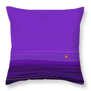 Ripple -twilight Purple Throw Pillow by Val Arie