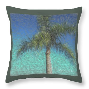Rippled Palm Throw Pillow