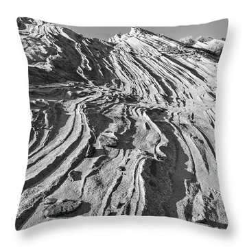 Rippled Sandstone At Waterhole Canyon Throw Pillow