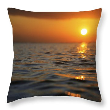 Rippled Sunset Throw Pillow by Brandon Tabiolo - Printscapes