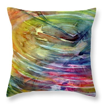 Ripples Throw Pillow by Allison Ashton