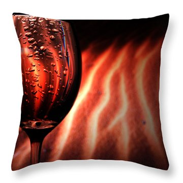 Ripples And Droplets Throw Pillow