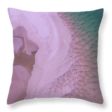 Throw Pillow featuring the photograph Ripples And Sand Bars On The Noosa River by Keiran Lusk