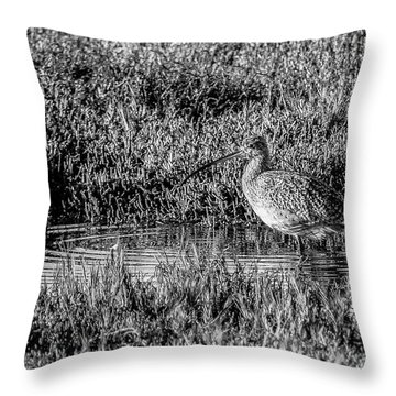 Camouflage, Black And White Throw Pillow