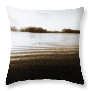 Ripples Throw Pillow by Thomas Bomstad