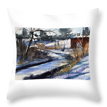 Rippleton Road River Throw Pillow by Judith Levins