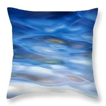 Rippling Blue Throw Pillow