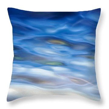Rippling Blue Throw Pillow