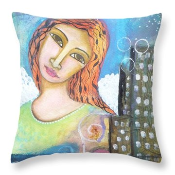 Rise Above Because You Are An Angel Throw Pillow by Prerna Poojara