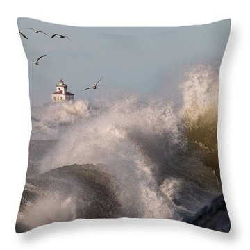 Throw Pillow featuring the photograph Rise Above The Turbulence by Everet Regal