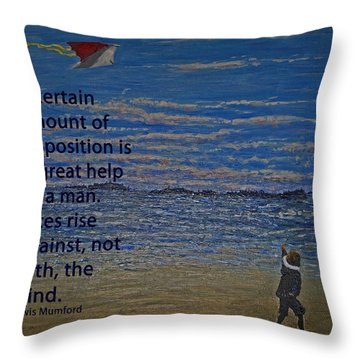 Rise Against The Wind Throw Pillow by Ian  MacDonald