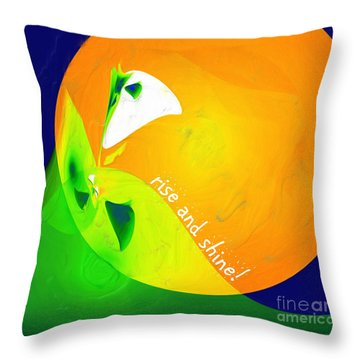 Throw Pillow featuring the digital art Rise And Shine by Methune Hively