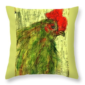 Throw Pillow featuring the drawing Rise And Shine  by P J Lewis