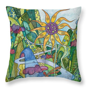 Rise And Shine Throw Pillow by Tanielle Childers