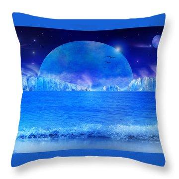 Throw Pillow featuring the digital art Rise by Bernd Hau