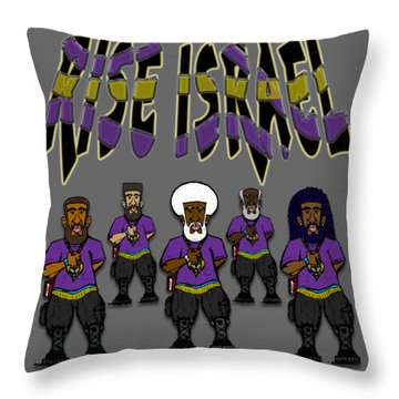 Rise Israel Soldier 2 Throw Pillow