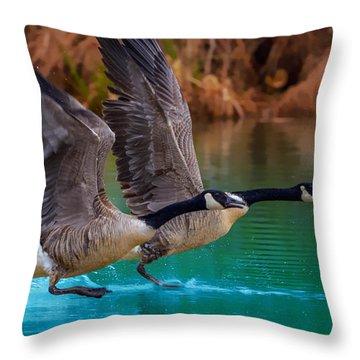 Rise Of Flight Throw Pillow
