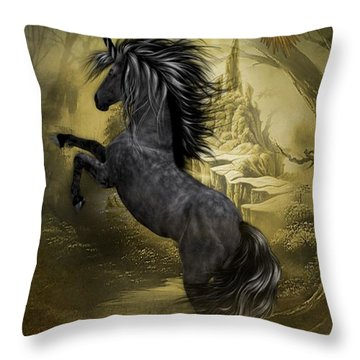Rise Of The Unicorn Throw Pillow