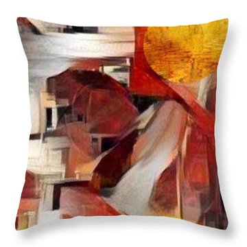 Rise Throw Pillow by Ray Tapajna