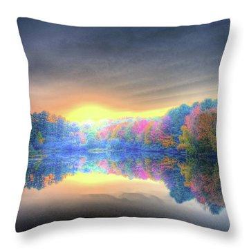 Rise Today Throw Pillow