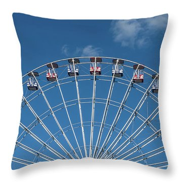 Rise Up Ferris Wheel In The Clouds Seaside Nj Throw Pillow by Terry DeLuco