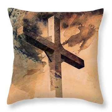 Throw Pillow featuring the digital art Risen  by Aaron Berg