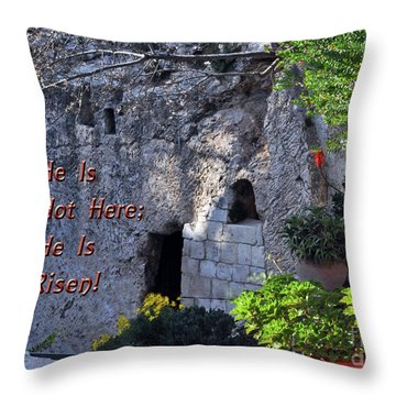 Risen Throw Pillow by Lydia Holly