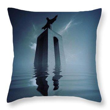 Rise Throw Pillow by Jorge Ferreira