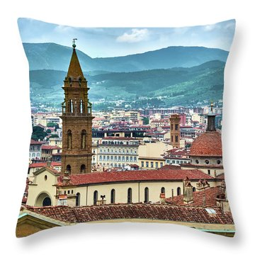 Rising Above The City Throw Pillow