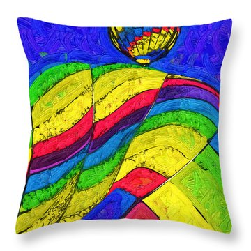 Throw Pillow featuring the digital art Rising Behind by Kirt Tisdale