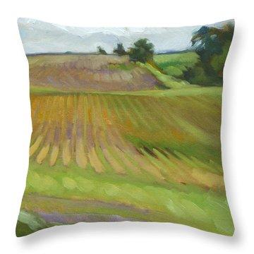 Rising Fields Throw Pillow