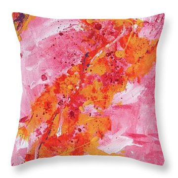 Rising Fires Throw Pillow