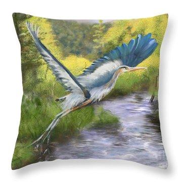Rising Free Throw Pillow