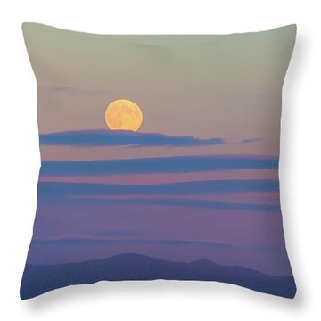 Rising Harvest Moon  Throw Pillow