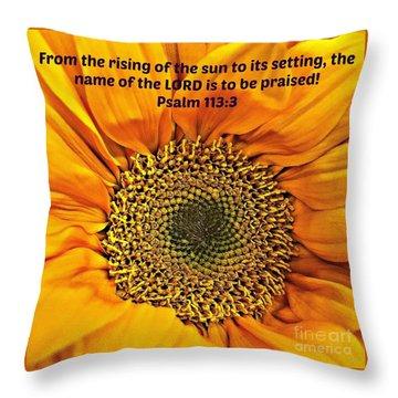 Rising Of The Sun Throw Pillow