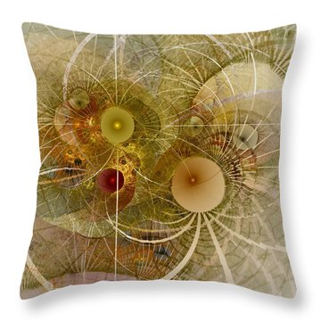 Throw Pillow featuring the digital art Rising Spring - Fractal Art by NirvanaBlues