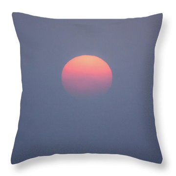 Throw Pillow featuring the photograph Rising Sun by Davorin Mance