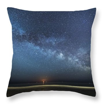 Rising Tide Rising Moon Rising Milky Way Throw Pillow