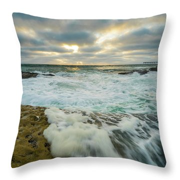 Rising Tide Setting Sun Throw Pillow