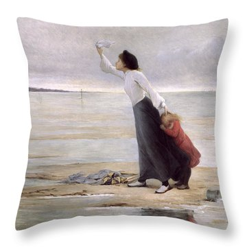 Rising Tide Throw Pillow by Uranie Colin Libour