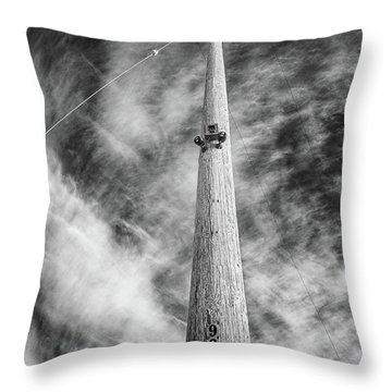 Throw Pillow featuring the photograph Rising To The Heights by Greg Nyquist