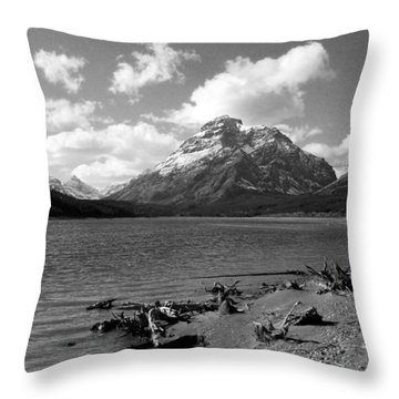 Rising Wolf, Two Med Shoreline Throw Pillow