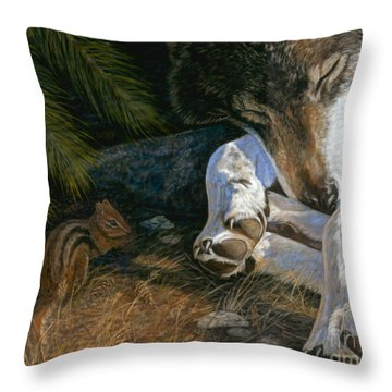 Risky Business Throw Pillow by Sheri Gordon