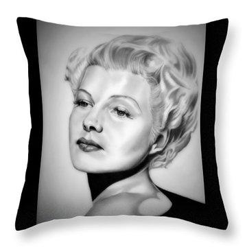 Rita Hayworth Throw Pillow by Fred Larucci